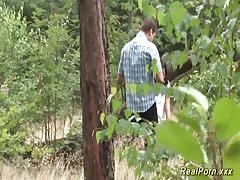 german teen banged in the forest