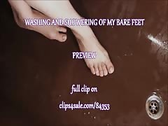 WASHING AND SHOWERING OF MY BARE FEET