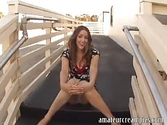 Audrey Elson gets a big creampie inside her
